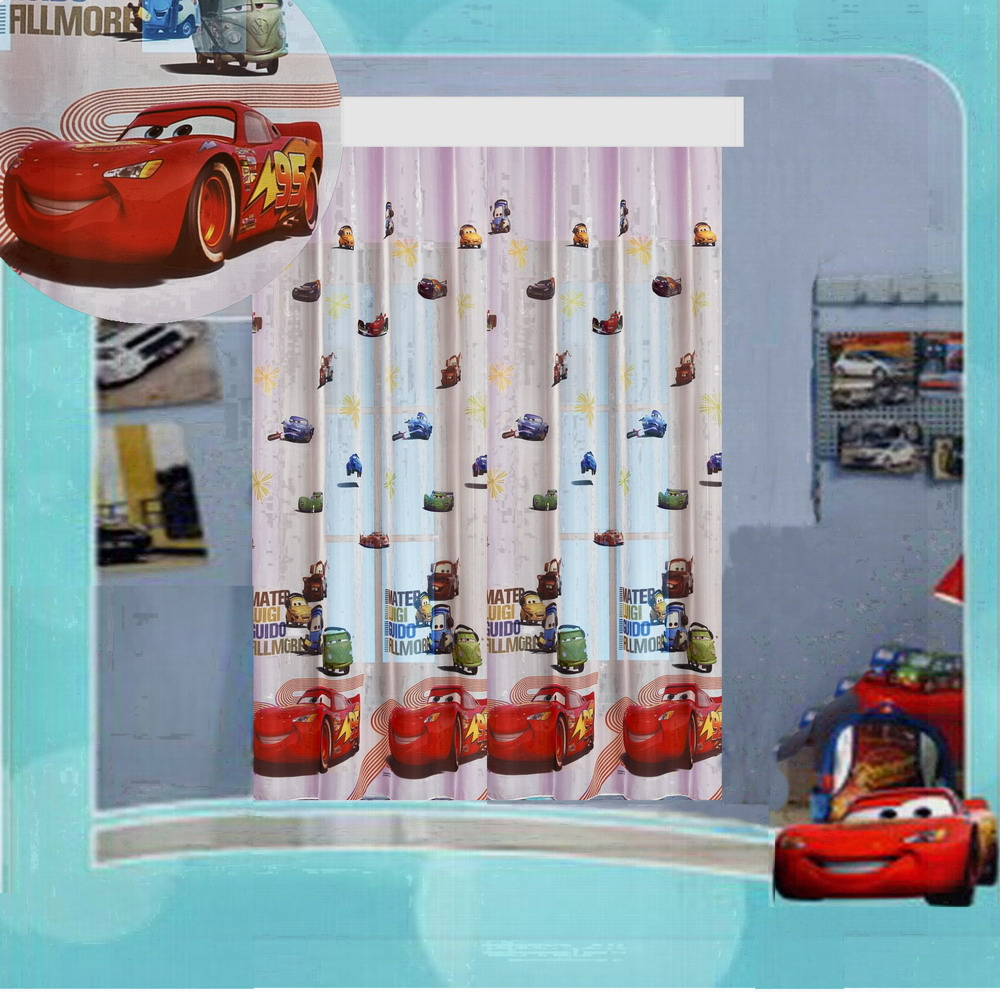 Auto cars ii kinderzimmer gardine 160x185 disney top for Kinderzimmer auto design