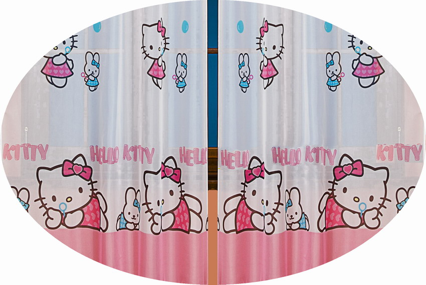 hello kitty gardine 2 teile 2x 160x126 kinderzimmer brandora lizenzware top teil ebay. Black Bedroom Furniture Sets. Home Design Ideas