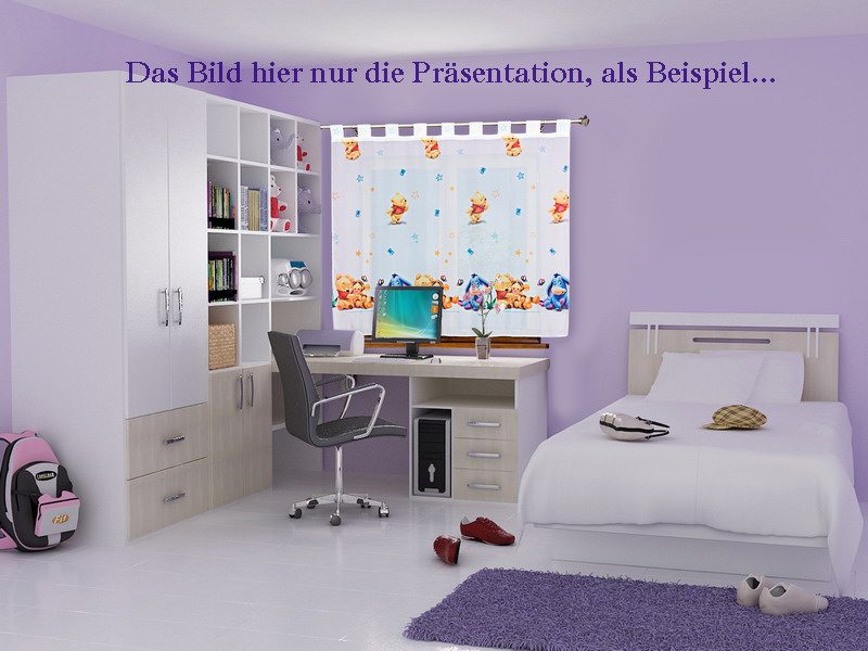 winniepooh baby gardine 2 teile 2x 160x126 kinderzimmer top angebot versand frei ebay. Black Bedroom Furniture Sets. Home Design Ideas